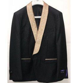 Retro Paris Retro Paris Slim Fit Blazer- 508 Black/Gold