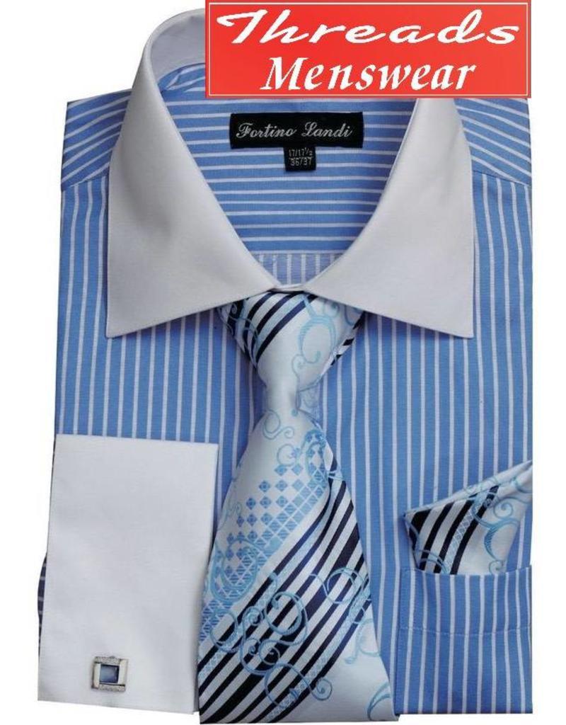 Fortino Landi Fortino Landi Shirt Set - FL631 Light Blue