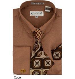 Karl Knox Karl Knox Shirt & Tie Set - SX4389 Coco