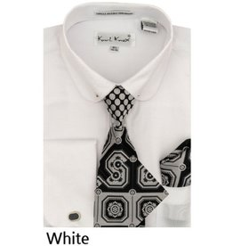 Karl Knox Karl Knox Shirt & Tie Set - SX4389 White