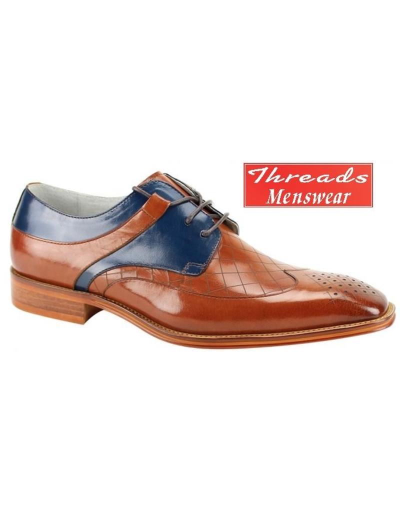 Giovanni Giovanni Dress Shoe Enzo - Caramel/Blue