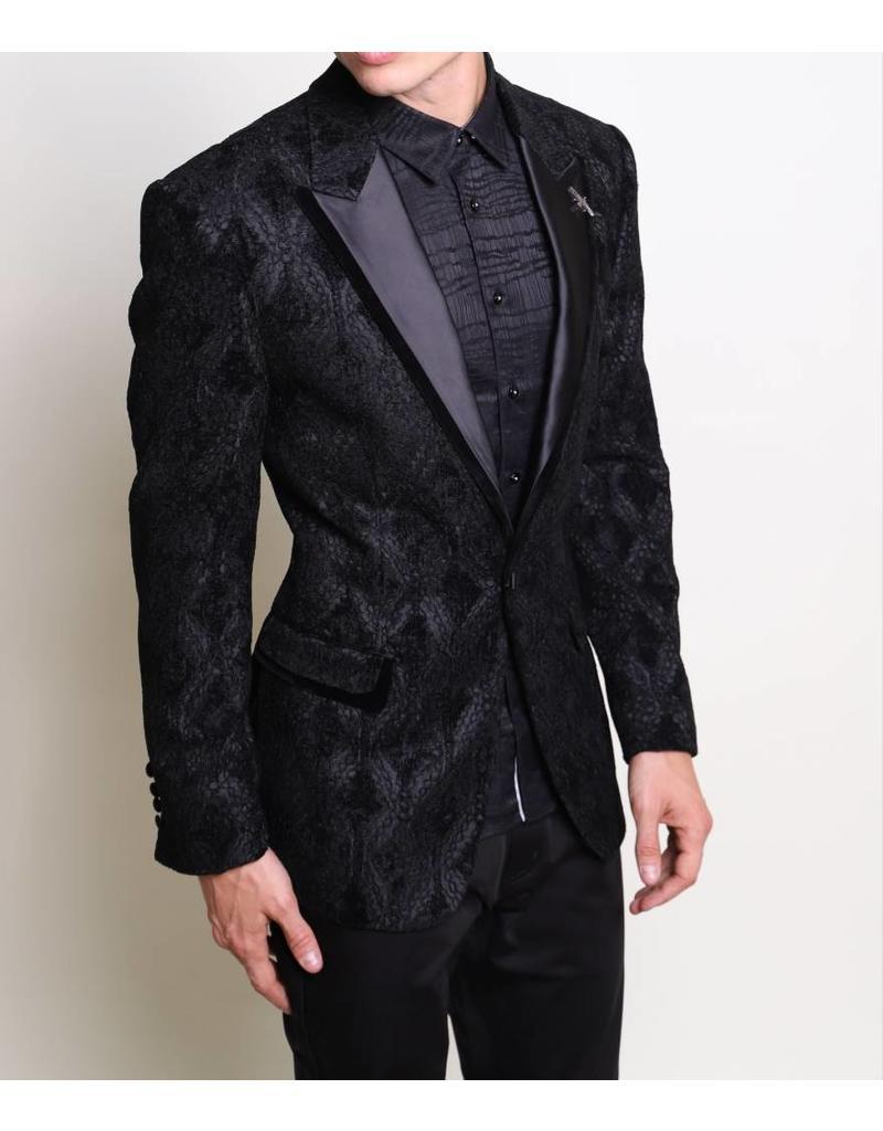 Barabas Barabas Slim Fit Blazer - BL032 Black