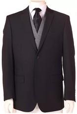 Vitali Vitali Vested Suit - M1435 Black