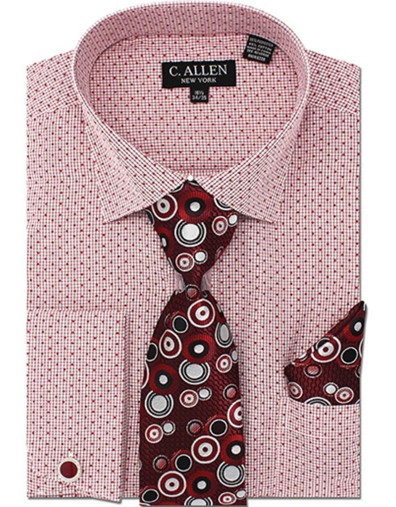 C. Allen C. Allen Shirt Set - JM214 Wine