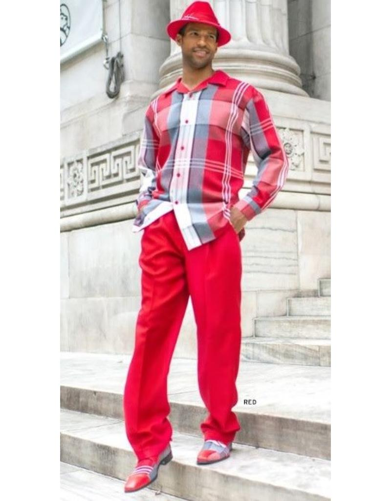 Montique Montique Long Sleeve Pantset - 1817 Red