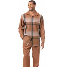 Montique Montique Long Sleeve Pantset - 1824 Tan