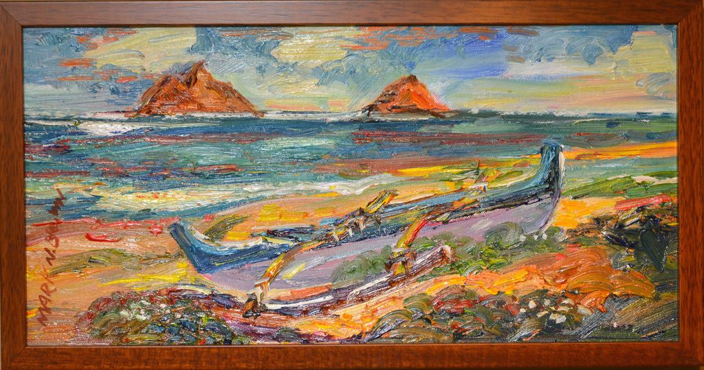 "Mark Brown ORIGINAL OIL PAINTING: 10X20 ""MOKULUA"""