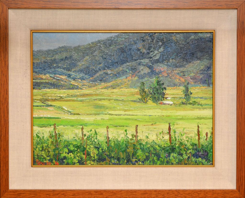 Ed Furuike Markham Vineyards, Napa Valley, 14x18 Original Palette Knife Oil Painting