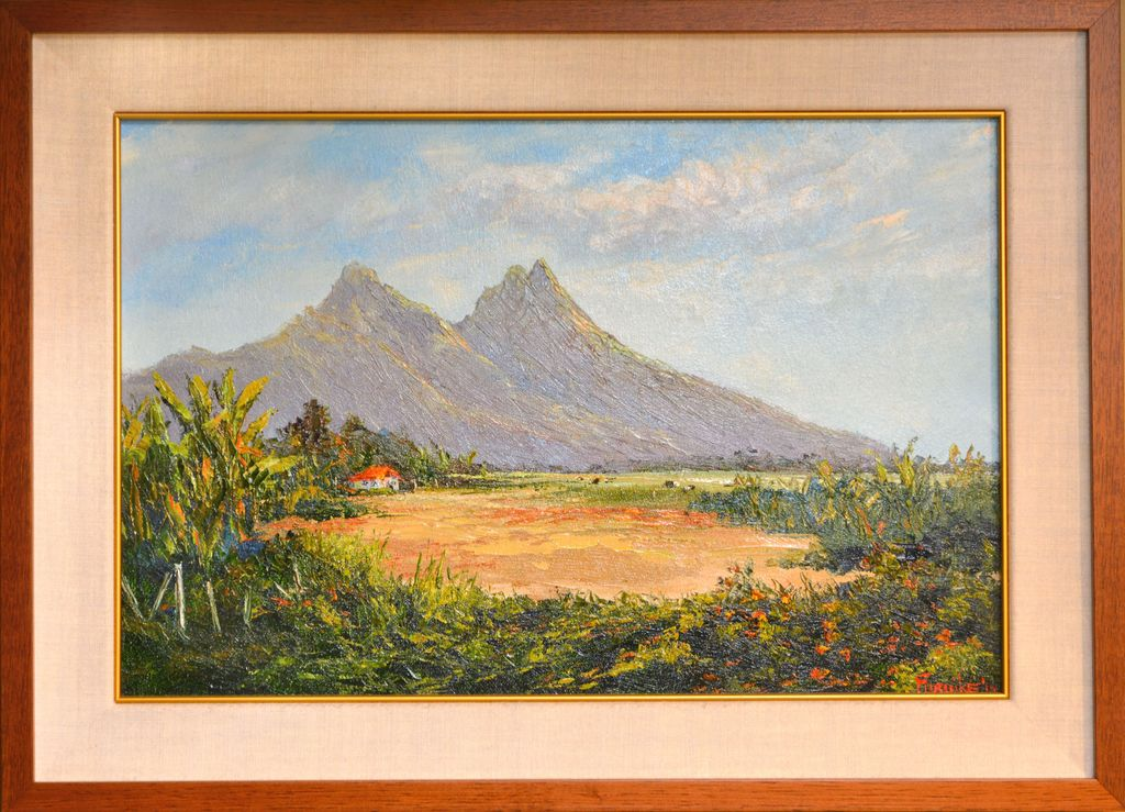 Ed Furuike OLOMANA, OLD WAIMANALO WAY, 21X14 ORIGINAL OIL PAINTING