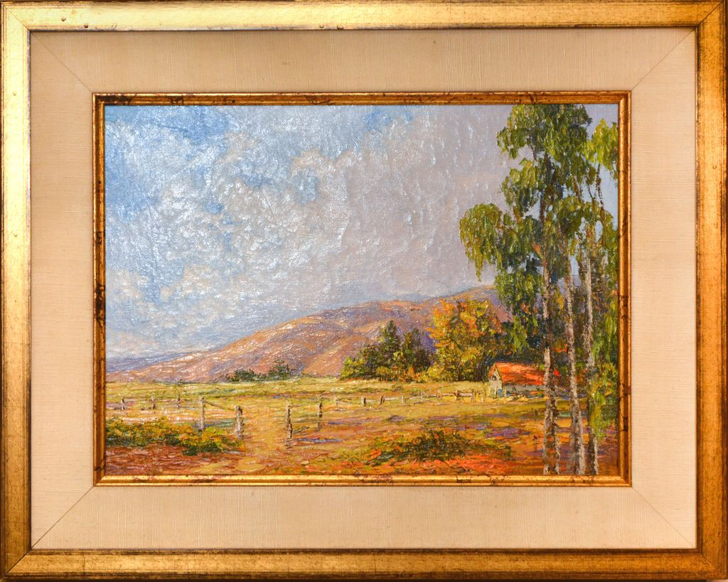 Ed Furuike BEYOND THE EUCALYPTUS GROVE, SONOMA, CA ORIGINAL OIL PAINTING 12X16