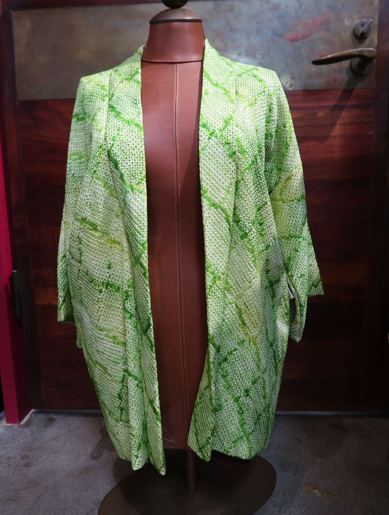 Elizabeth Kent light green shibori jacket
