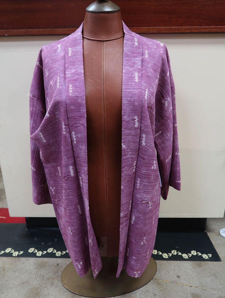 Elizabeth Kent violet/dark pink shibori jacket
