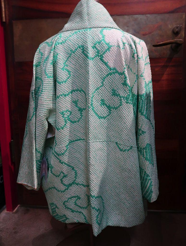 Elizabeth Kent mint green shibori jacket