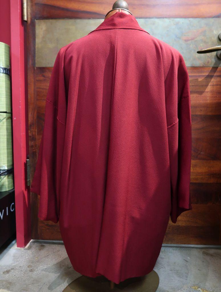 Elizabeth Kent Maroon Jacket with Cream Lining