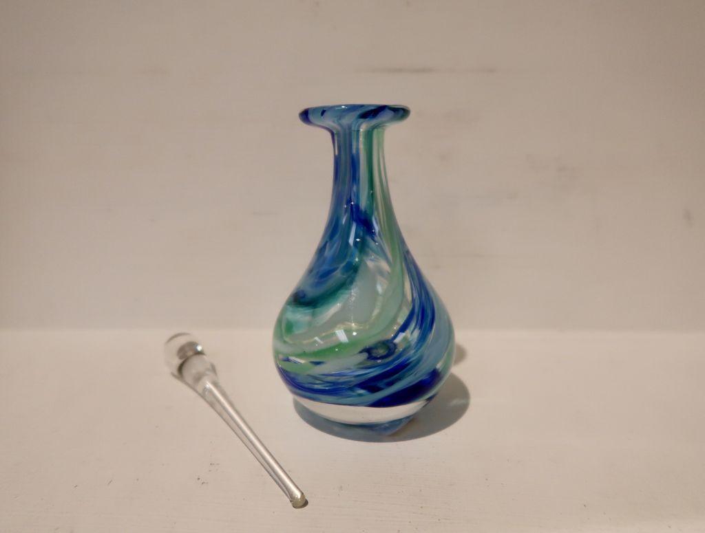 "Emily's Art Glass Perfume Bottle, APPROX. 5.5""x2.5"""