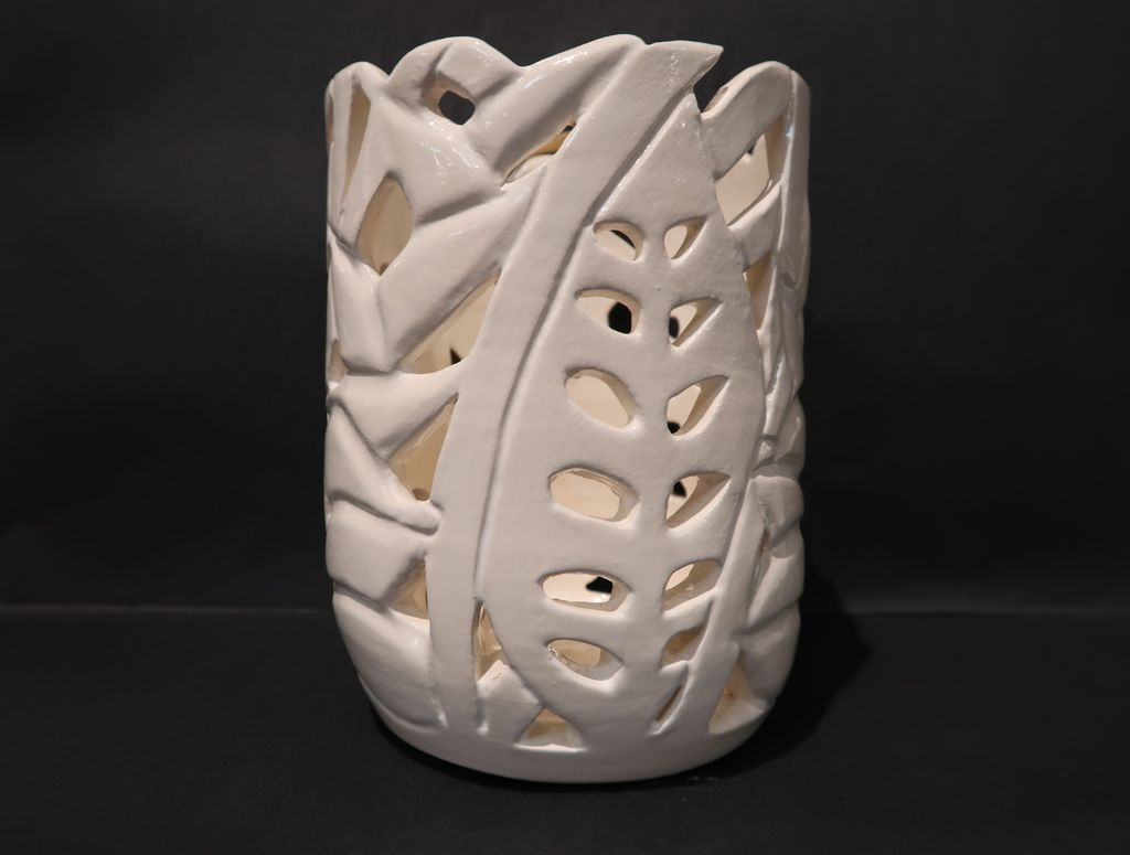 """Cindy Imada UTENSIL HOLDER: HELICONIA, APPROX. 6""""X4.5"""""""