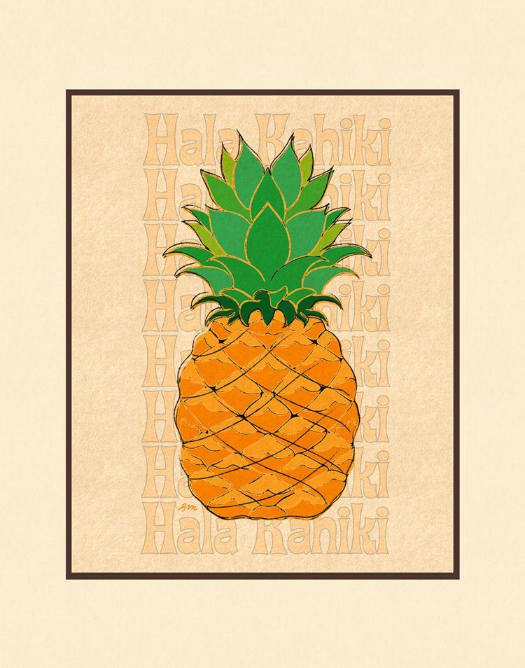 Aloha Posters HALA KAHIKI 8X10 MATTED PRINT