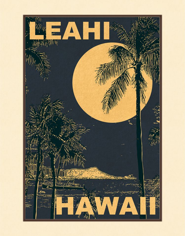 Aloha Posters LEAHI  8X10 MATTED PRINT