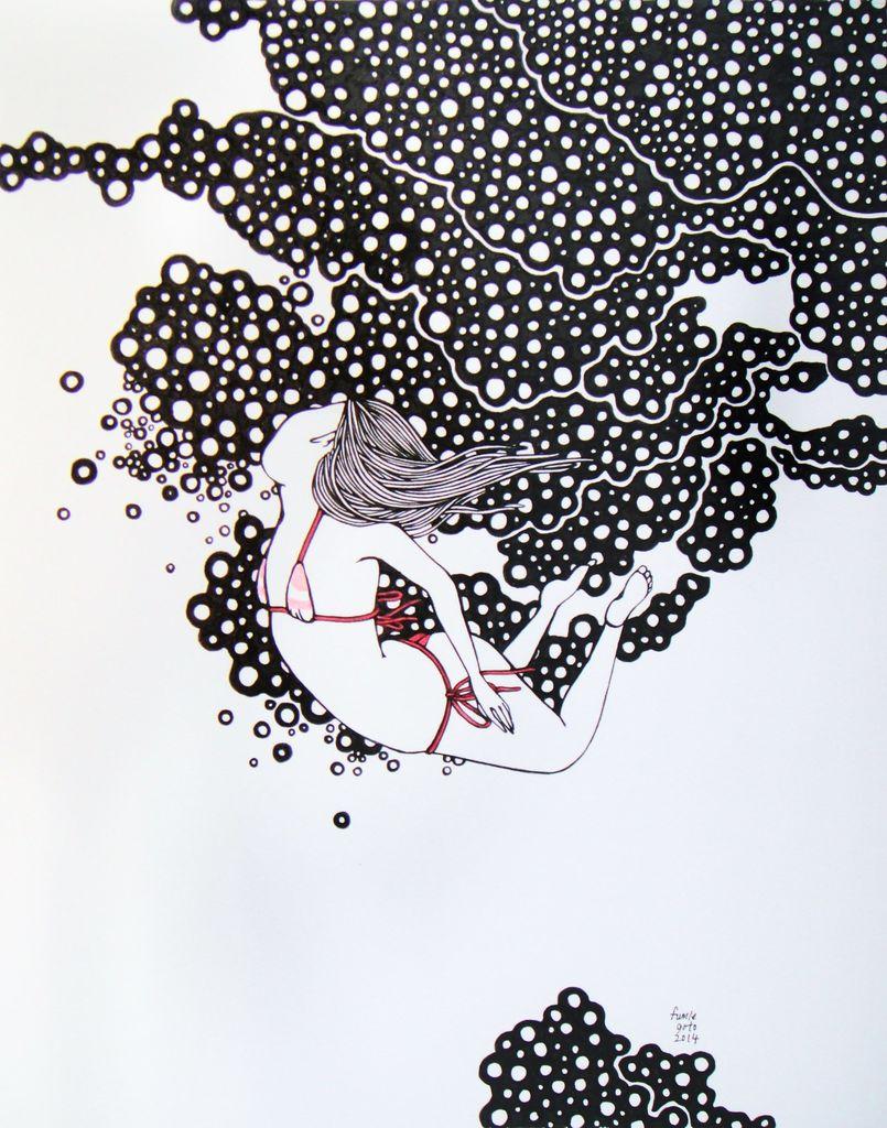 "Kris Goto Down Up, 11""x14"" Matted Art Print"