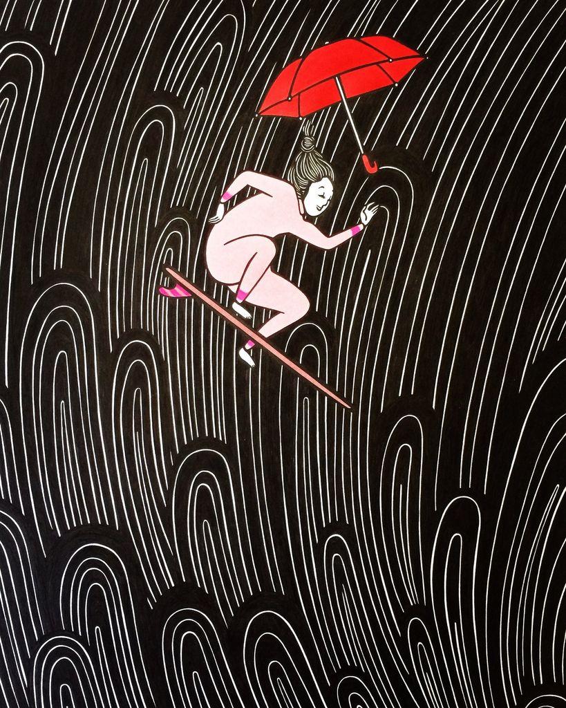 "Kris Goto The Fall, 11""x14"" Matted Print"