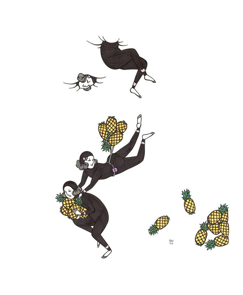 "Kris Goto Pine Train, 11""x14"" Matted Art Print"