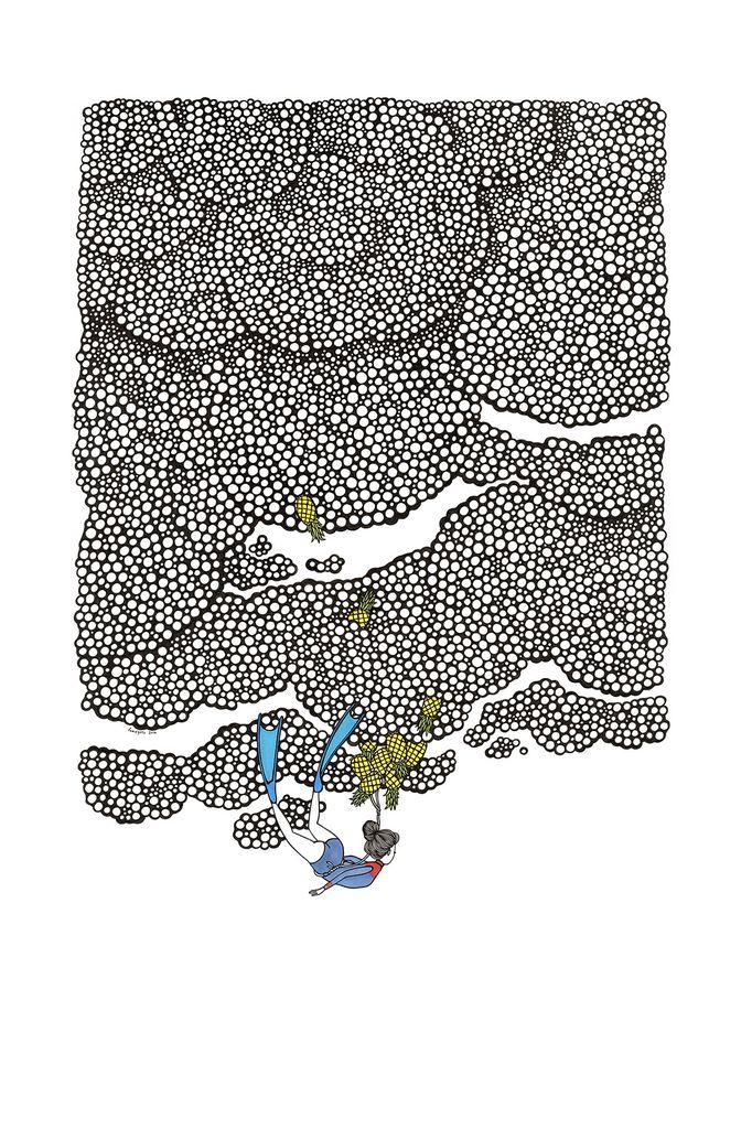 Kris Goto 24X36 Art Print, Pine Dive