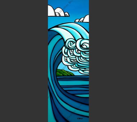 "Heather Brown ISLAND BARREL, 15""X44"" GALLERY WRAP GICLEE ON CANVAS, LIMITED EDITION #81/250, SO16125"