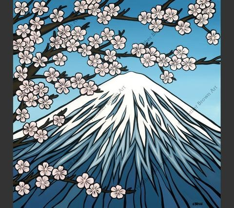 "Heather Brown MT FUJI, 20""X20"" GALLERY WRAP GICLEE ON CANVAS,  LIMITED EDITION #86/250,  SO17404"