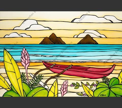 "Heather Brown LANIKAI DAYDREAM, 16""X24"" GALLERY WRAP GICLEE ON CANVAS, LIMITED EDITION #136/250, SO18044"
