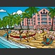 """Heather Brown ROYAL HAWAIIAN, 16""""X24"""" GALLERY WRAP GICLEE ON CANVAS, LIMITED EDITION #54/250, SO13474"""