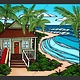 "Heather Brown HAWAII BUNGALOW, 16""X20"" GALLERY WRAP  GICLEE ON CANVAS, LIMITED EDITION #97/250, SO16125"