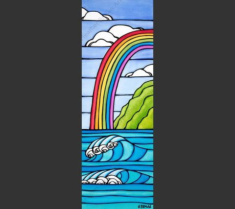 """Heather Brown RAINBOW TO THE SEA, 10""""X30"""" GALLERY WRAP GICLEE ON CANVAS, LIMITED EDITION #43/50, SO17725"""