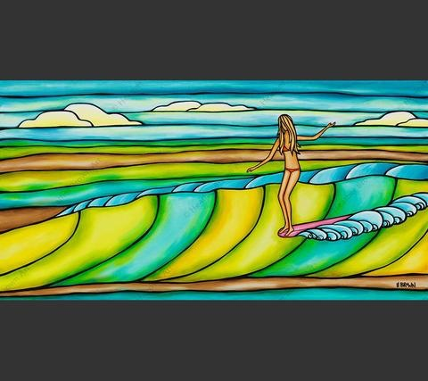 "Heather Brown WEEKEND SLIDE, 12""X24"" GALLERY WRAP GICLEE ON CANVAS, LIMITED EDITION #3/50, SO17725"