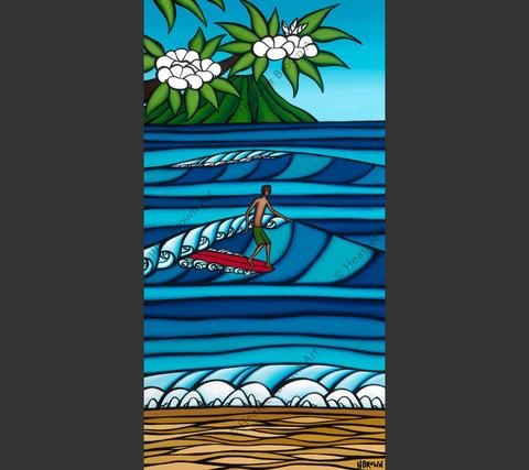 """Heather Brown HONOLULU SURF, 12""""X24"""" GALLERY WRAP GICLEE ON CANVAS, LIMITED EDITION #71/250, SO16125"""