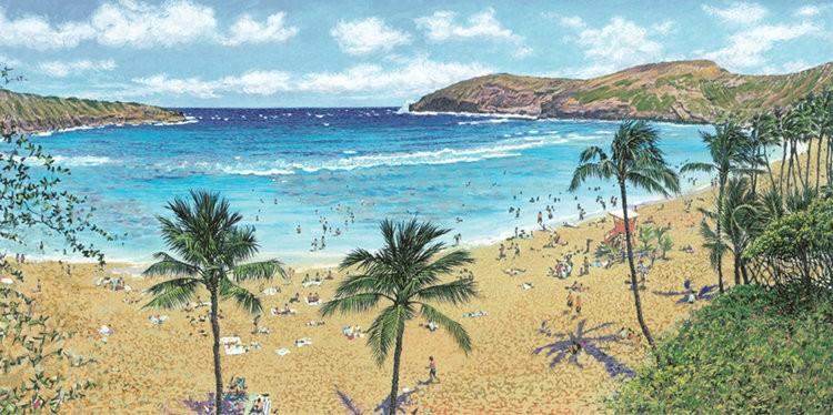 "Carol Collette Hanauma Bay, 7""x14"" Gallery Wrap Giclee on Canvas"