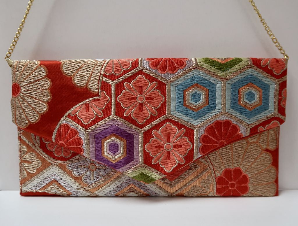 Leina Aonuma ORANGE/GOLD/PURPLE/BLUE/SILVER: OBI CLUTCH