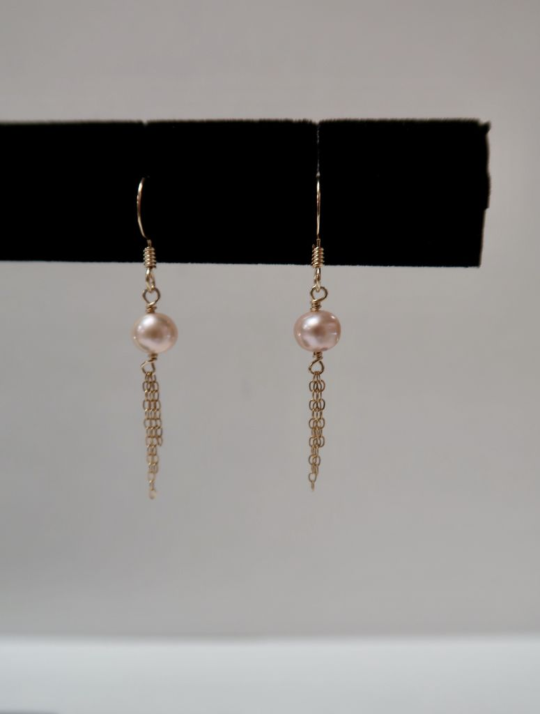 Rose Wong EARRINGS: Gold Fill Freshwater Pearls