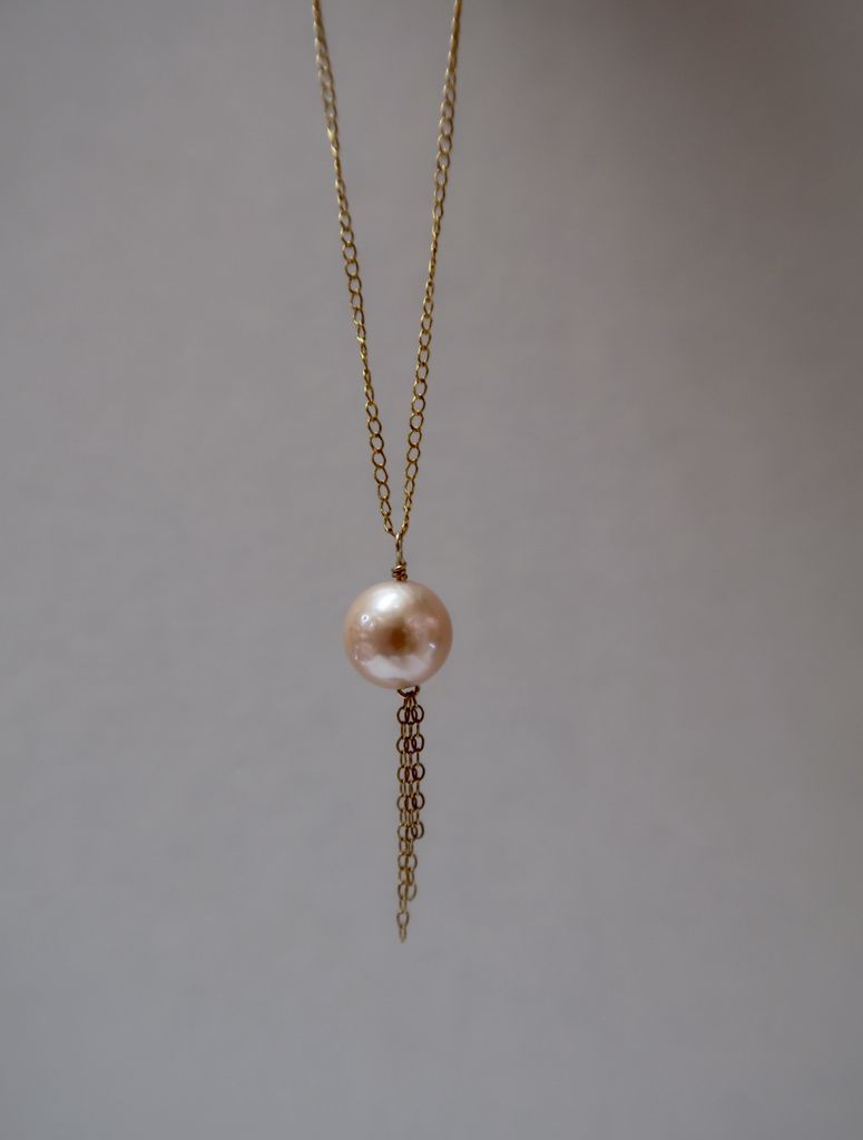 Rose Wong NECKLACE: Gold Fill Edison Pearl