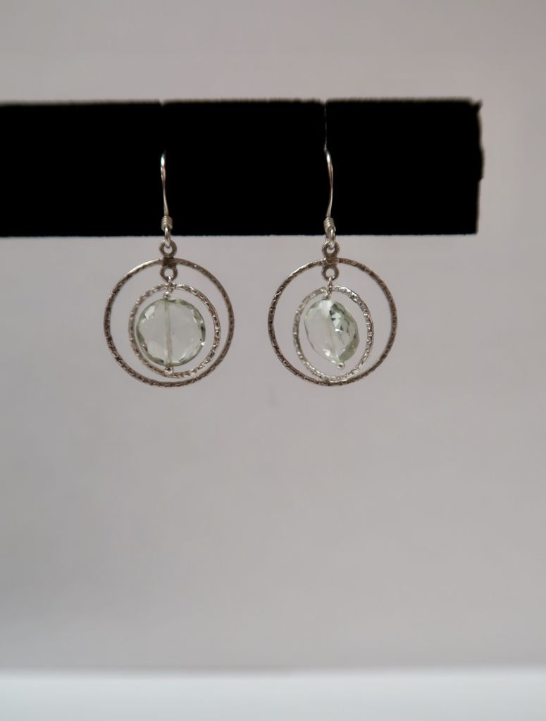 Rose Wong EARRINGS: STERLING SILVER SEMI PRECIOUS STONE EARRINGS