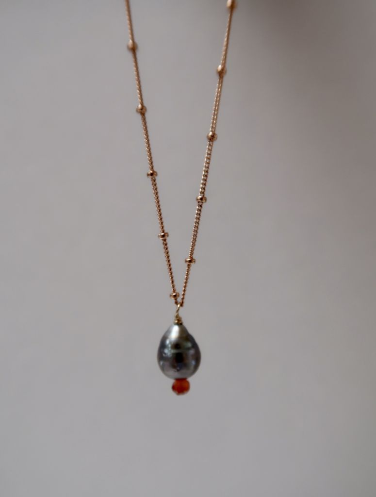 Rose Wong NECKLACE: ROSE GOLD PEARL NECKLACE