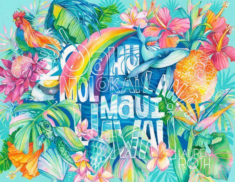 Lauren Roth GICLEE ON CANVAS-ISLANDS-11X14