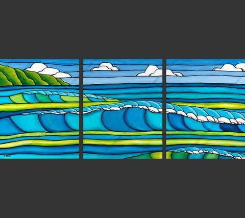 "Heather Brown WAVE TRIPTYCH, 16""X20X3"" GALLERY WRAP GICLEE ON CANVAS, LIMITED EDITION #9/100, SO19117"