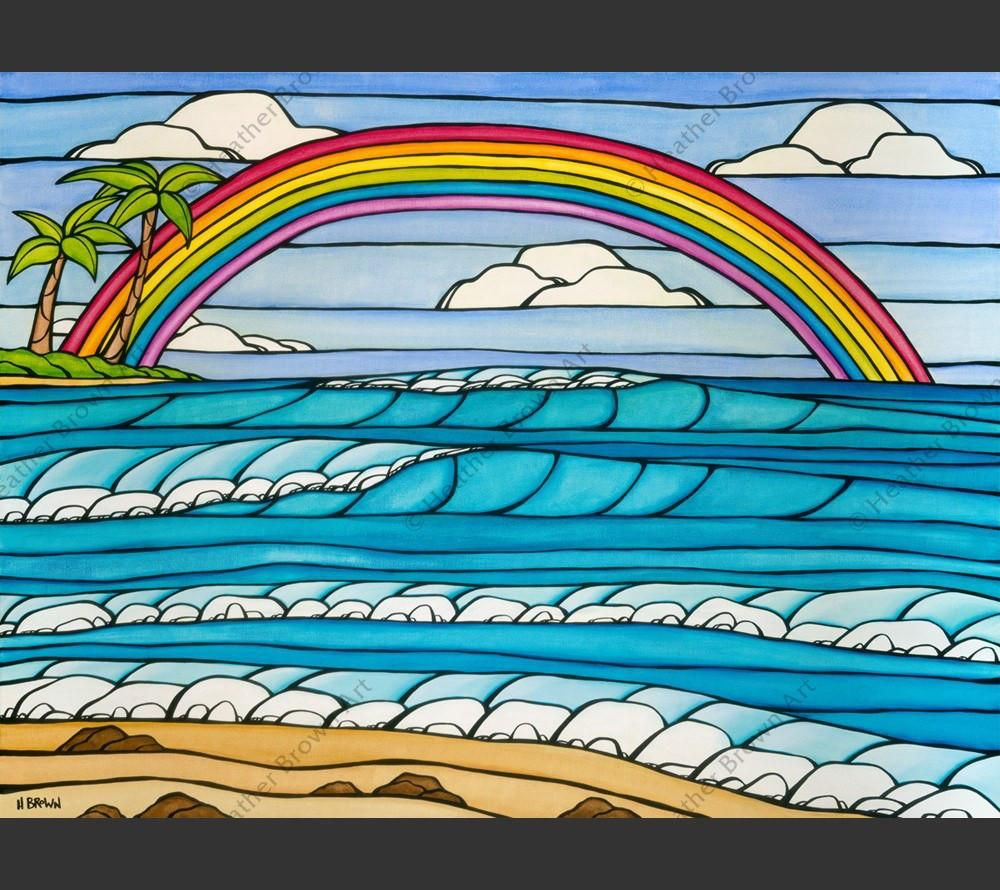 """Heather Brown DAYDREAM RAINBOW, 24""""X32"""" GALLERY WRAP GICLEE ON CANVAS, LIMITED EDITION #222/250, SO19117"""