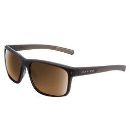 Native Eyewear Native Sunglasses Wells, Frame Matte Brown Crystal, Lens N3 Brown