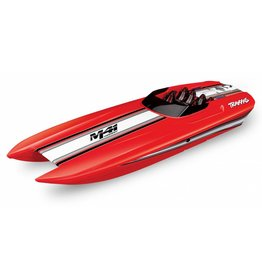 TRAXXAS TRA57046-4_RED DCB M41 WIDEBODY:  BRUSHLESS 40' RACE BOAT WITH TQI TRAXXAS LINK ENABLED 2.4GHZ RADIO SYSTEM & TRAXXAS STABILITY MANAGEMENT (TSM)
