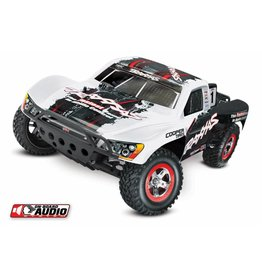 TRAXXAS TRA58034-2_WHT SLASH: 1/10-SCALE 2WD SHORT COURSE RACING TRUCK WITH TQ 2.4GHZ RADIO SYSTEM AND ON-BOARD AUDIO