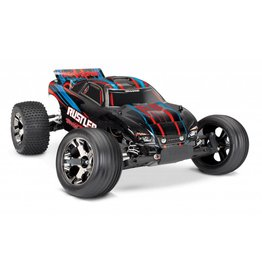 TRAXXAS TRA37076-4_RED RUSTLER VXL:  1/10 SCALE STADIUM TRUCK WITH TQI TRAXXAS LINK ENABLED 2.4GHZ RADIO SYSTEM & TRAXXAS STABILITY MANAGEMENT (TSM)