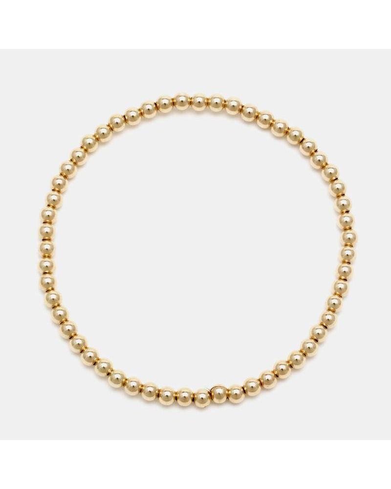 Karen Lazar 3mm beaded bracelet