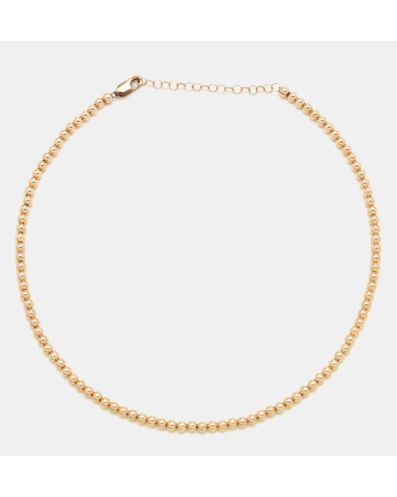 Karen Lazar 4mm Beaded Necklace