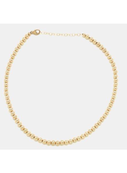 Karen Lazar 5mm Beaded Necklace